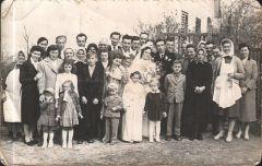 1959. március 30. Szili Mátyás és Virág Anna esküvője